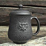 Посуда ручной работы. Ярмарка Мастеров - ручная работа Кружка керамическая для заваривания травяного чая. Handmade.