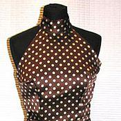 Платья ручной работы. Ярмарка Мастеров - ручная работа Шелковое платье в горох. Handmade.