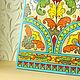 Ручная роспись. Русский стиль. Весна. Древо жизни. Выполнено в технике народной росписи Северной Двины.