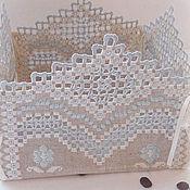 Посуда handmade. Livemaster - original item Textile basket candy bowl Tenderness. For home and interior. Handmade.