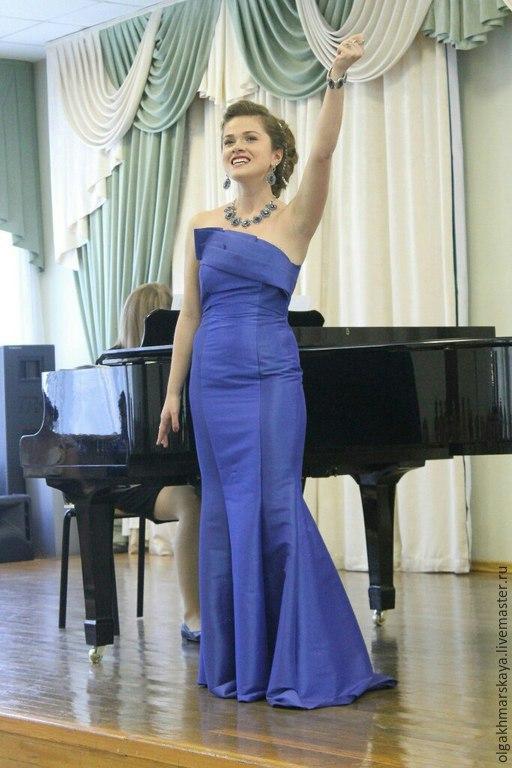 Платья ручной работы. Ярмарка Мастеров - ручная работа. Купить Вечернее синее платье. Handmade. Тёмно-синий, стильное платье