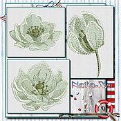 Материалы для творчества handmade. Livemaster - original item LOTUS (set). Design in machine embroidery. Handmade.