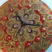 """Для дома и интерьера ручной работы. Ярмарка Мастеров - ручная работа часы настенные """"Коралл"""". Handmade."""