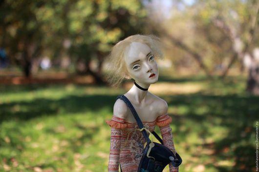 Коллекционные куклы ручной работы. Ярмарка Мастеров - ручная работа. Купить Николь и Фред. Handmade. Оранжевый, сад, комбинезон, флюмо