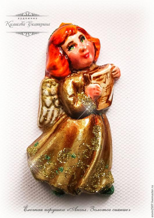"""Новый год 2017 ручной работы. Ярмарка Мастеров - ручная работа. Купить Ёлочная игрушка """"Ангел с нотами"""". Handmade. Комбинированный"""