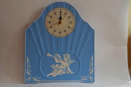 Часы для дома ручной работы. Ярмарка Мастеров - ручная работа. Купить Часы Голубые. Handmade. Голубой, для дома и интерьера, Декупаж