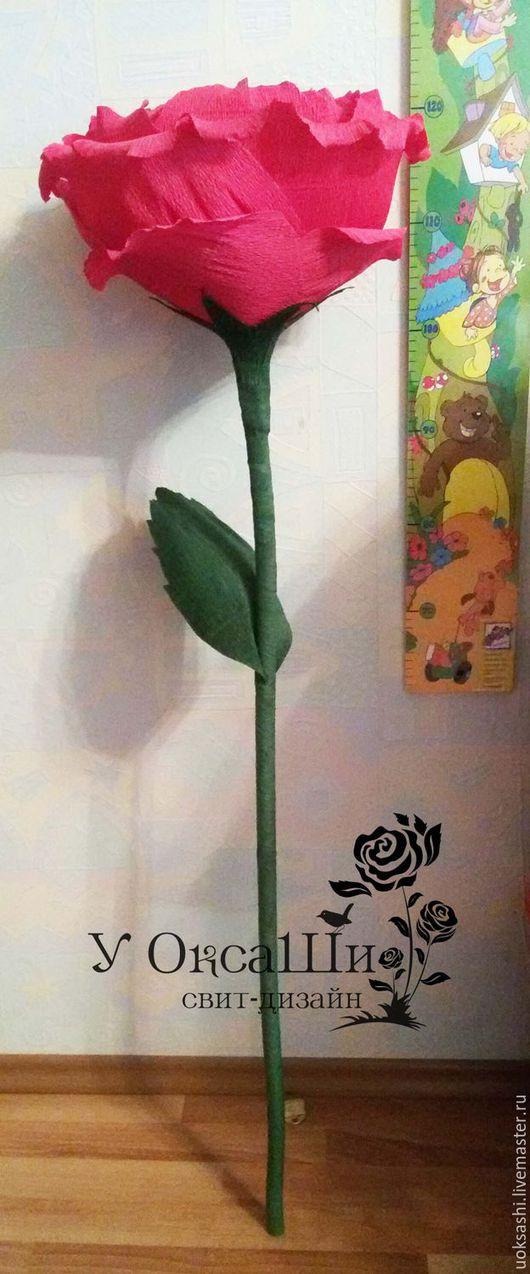Персональные подарки ручной работы. Ярмарка Мастеров - ручная работа. Купить Гигантская роза с коробкой Raffaello. Handmade. Ярко-красный
