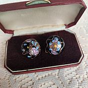 Винтаж handmade. Livemaster - original item Murano glass clip-on earrings. Handmade.