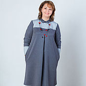 "Одежда handmade. Livemaster - original item Платье-бохо из джерси двухцветное 1 ""Сашенька"". Handmade."
