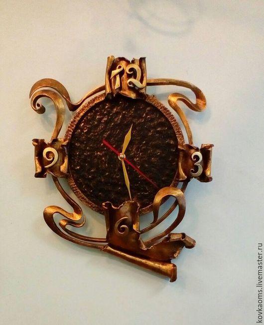 Часы для дома ручной работы. Ярмарка Мастеров - ручная работа. Купить Кованые часы Модерн. Handmade. Часы, кованые часы