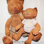 Куклы и игрушки ручной работы. Ярмарка Мастеров - ручная работа Кот и котенок. Handmade.
