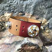 Украшения handmade. Livemaster - original item Leather bracelet,