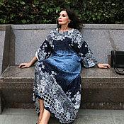 Одежда ручной работы. Ярмарка Мастеров - ручная работа Платье Голубой Ажур макси. Handmade.