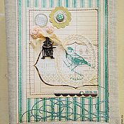 "Канцелярские товары ручной работы. Ярмарка Мастеров - ручная работа Блокнот ""Ласточка"". Handmade."
