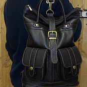 Сумки и аксессуары handmade. Livemaster - original item Backpack-leather bag 61. Handmade.