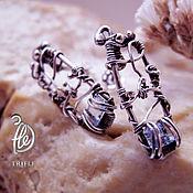 """Украшения ручной работы. Ярмарка Мастеров - ручная работа серьги   """"Winter Garden"""" silver. Handmade."""