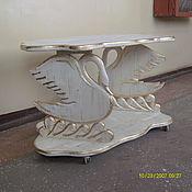 """Для дома и интерьера ручной работы. Ярмарка Мастеров - ручная работа журнальный стол """"Белый лебедь"""". Handmade."""