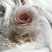 """Аксессуары ручной работы. Ярмарка Мастеров - ручная работа Коктейльная шляпка с вуалью """"Розы"""". Handmade."""