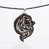 Украшения handmade. Livemaster - original item Wooden wolf pendant. Handmade.