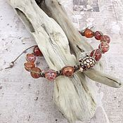 Украшения handmade. Livemaster - original item Bracelet fire agate Shambala tortoise. Handmade.