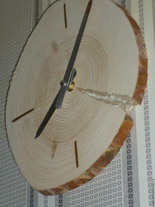 """Часы для дома ручной работы. Ярмарка Мастеров - ручная работа. Купить Часы настенные """"Естество"""". Handmade. Бежевый, экостиль, дерево"""