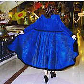 Одежда handmade. Livemaster - original item Blue coat! Designer coat, fur coat. Handmade.