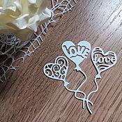 Материалы для творчества handmade. Livemaster - original item !Cutting for scrapbooking-BALLOONS hearts - cardboard design. Handmade.