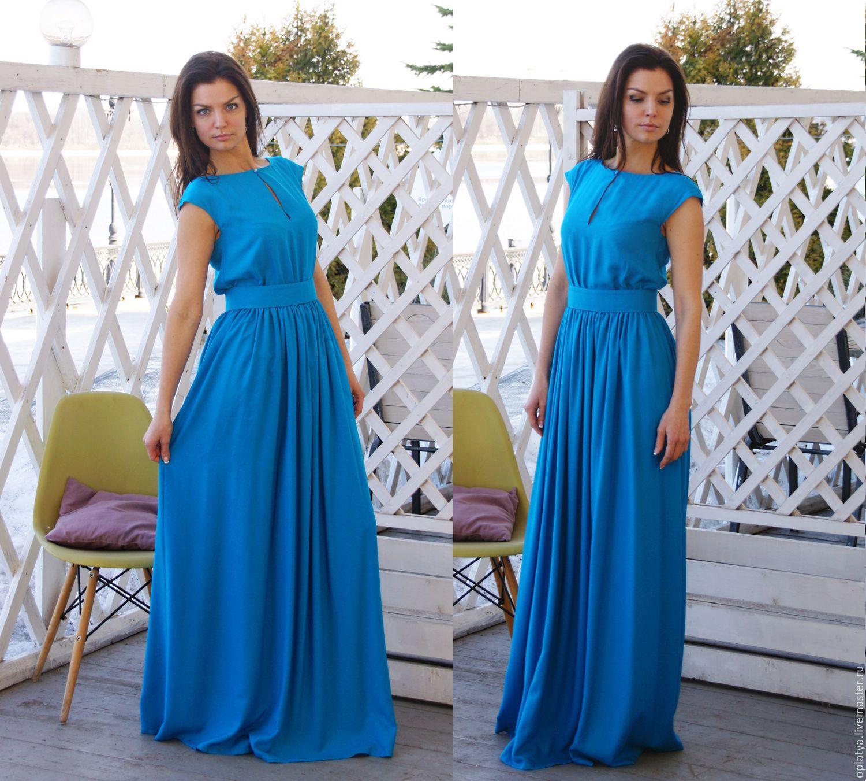 12894cc7071 Стильное длинное платье в пол - Модадром