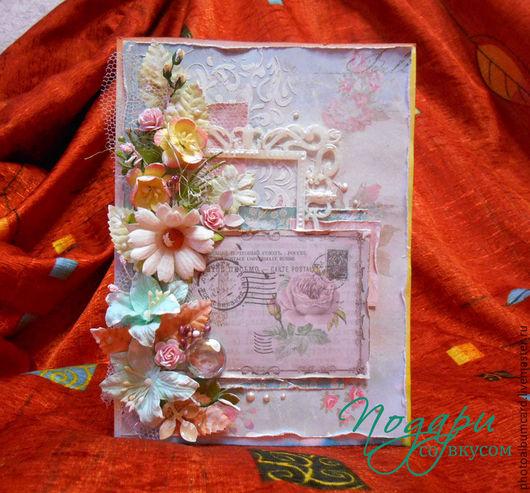 """Открытки для женщин, ручной работы. Ярмарка Мастеров - ручная работа. Купить Открытка """"Вся моя нежность"""". Handmade. Розовый"""