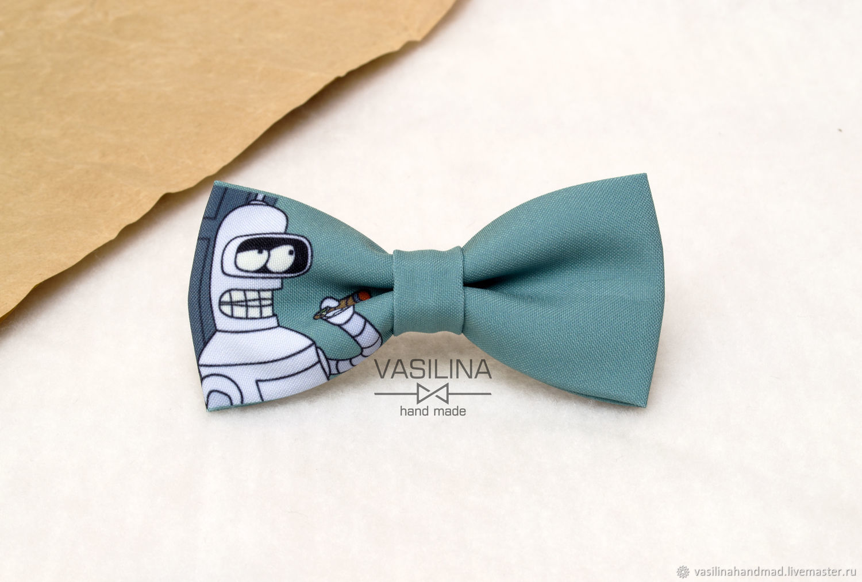 Ties & Bow Ties handmade. Livemaster - handmade. Buy Bow tie Futurama, Bender, Futurama.Butterfly, dark turquoise