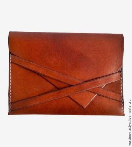 Женские сумки ручной работы. Ярмарка Мастеров - ручная работа. Купить клатч кожаный. Handmade. Коричневый, клатч