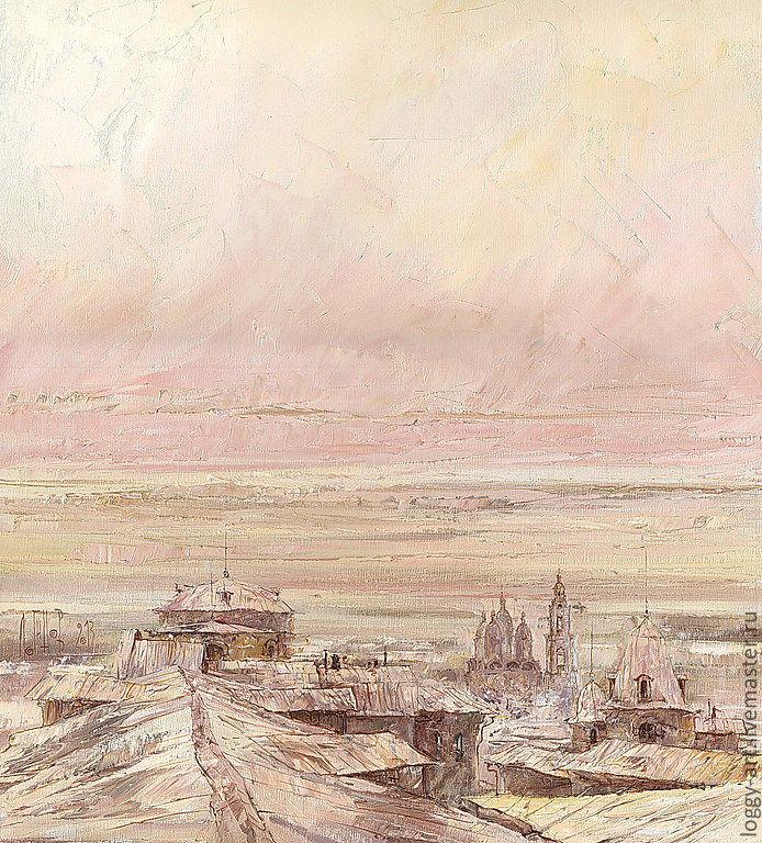 Утро. Крыши, Картины, Астрахань,  Фото №1