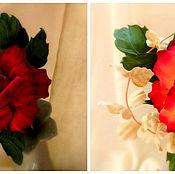"""Цветы и флористика ручной работы. Ярмарка Мастеров - ручная работа Интерьерная роза """"Glory"""" из японского бархата.. Handmade."""