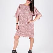 Одежда handmade. Livemaster - original item Fashionable pink knit dress - DR0582CKPL. Handmade.