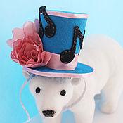 """Аксессуары ручной работы. Ярмарка Мастеров - ручная работа мини-шляпка """"Цветочная мелодия"""". Handmade."""