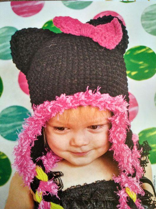 Шапки и шарфы ручной работы. Ярмарка Мастеров - ручная работа. Купить Шапочка детская. Handmade. Шапка вязаная, шапка медведь