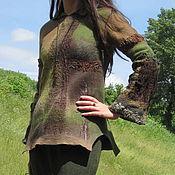 """Одежда ручной работы. Ярмарка Мастеров - ручная работа Свитерок валяный """"Изумрудный мох"""". Handmade."""