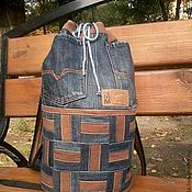 Сумки и аксессуары handmade. Livemaster - original item Backpack denim. Handmade.