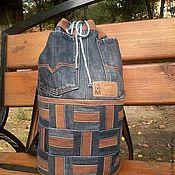 Рюкзаки ручной работы. Ярмарка Мастеров - ручная работа Рюкзак джинсовый. Handmade.