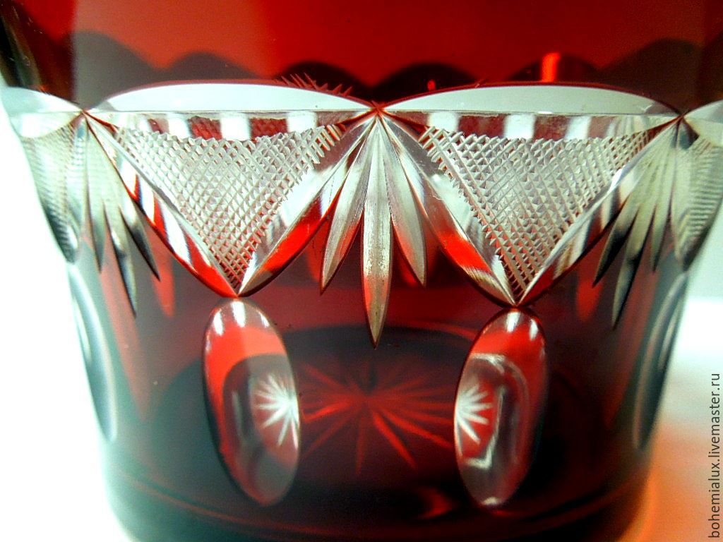 Vase red color laminated glass ruby pre war shop online on vase red color laminated glass ruby pre war bohemialux reviewsmspy