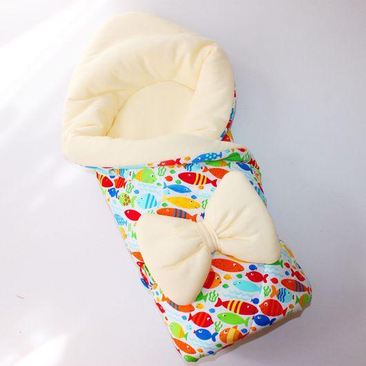 Для новорожденных, ручной работы. Ярмарка Мастеров - ручная работа. Купить Одеяло конверт на выписку. Handmade. Одеяло на выписку