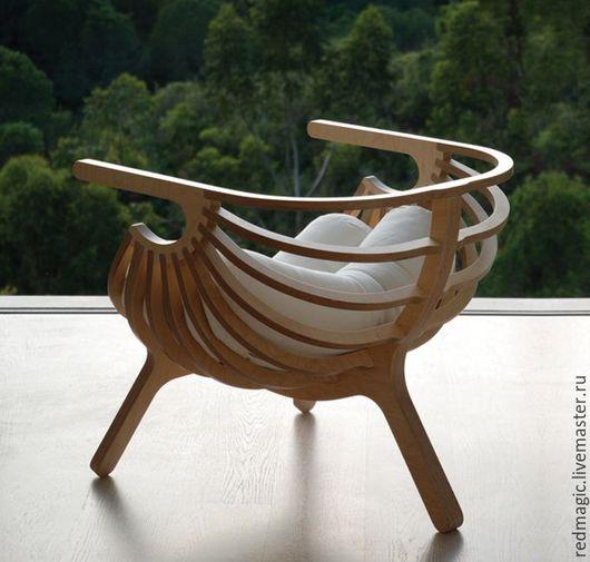 Мебель ручной работы. Ярмарка Мастеров - ручная работа. Купить Стильное кресло из фанеры. Handmade. Мебель, фанера, ЧПУ, фанера
