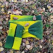 Аксессуары handmade. Livemaster - original item Kit Snood fingerless gloves Forest. Handmade.