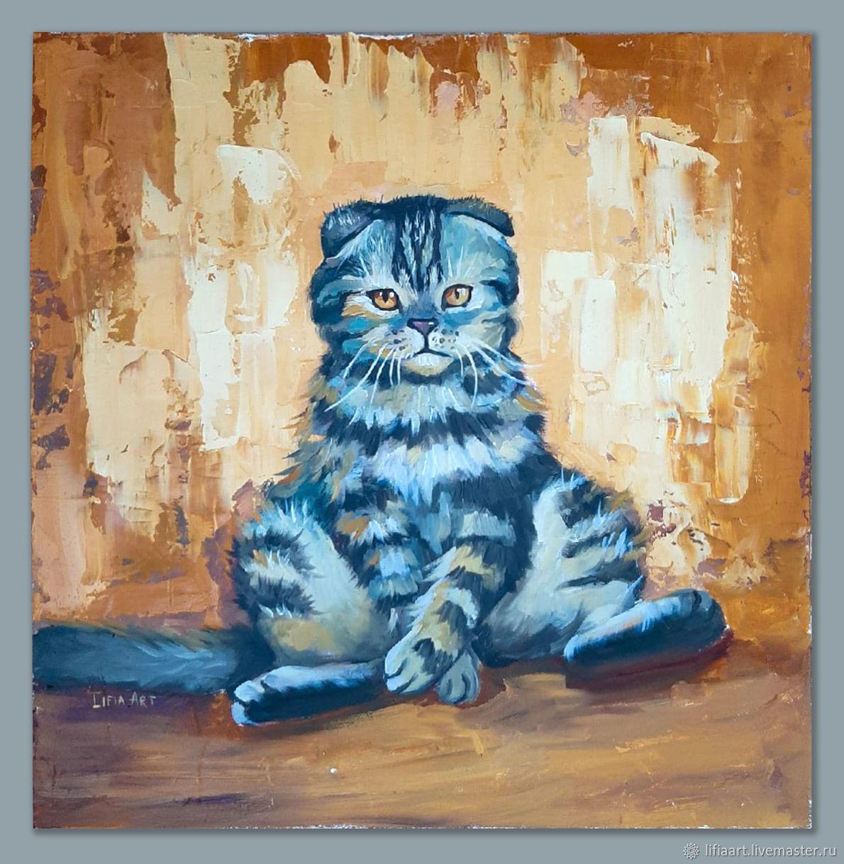 Oil painting 'Cat', Pictures, Belgorod,  Фото №1