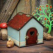Куклы и игрушки ручной работы. Ярмарка Мастеров - ручная работа Домик кукольный деревянный. Handmade.