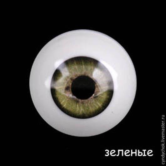 Куклы и игрушки ручной работы. Ярмарка Мастеров - ручная работа. Купить 26 мм, зеленый Глаза акриловые для кукол. Handmade.