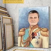 Сувениры и подарки handmade. Livemaster - original item gift for birthday. Portrait in the image of a commander. Handmade.