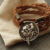 Украшения handmade. Livemaster - original item Leather bracelet ,bracelet with locket ,the bracelet of Odin. Handmade.