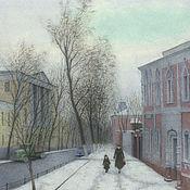 Картины и панно handmade. Livemaster - original item Shops buy poster Moscow hospital street. Handmade.