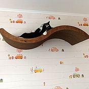 Лежанки ручной работы. Ярмарка Мастеров - ручная работа Большая настенная лежанка-полка для кошки. Handmade.